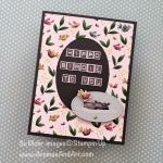 Humorous Hippo Birdie Birthday Card
