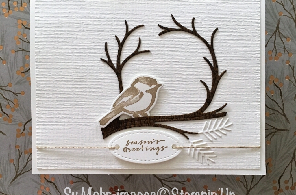 Sparrow on a Branch Holiday Card