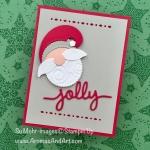 Punch Art Santa Christmas Card