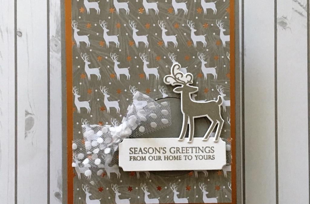 Dashing Deer Joyous Noel Christmas Card
