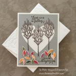 Fall Leaves Anniversary Card