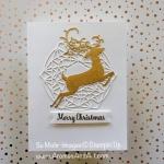 Clean & Simple Metallic Christmas Card