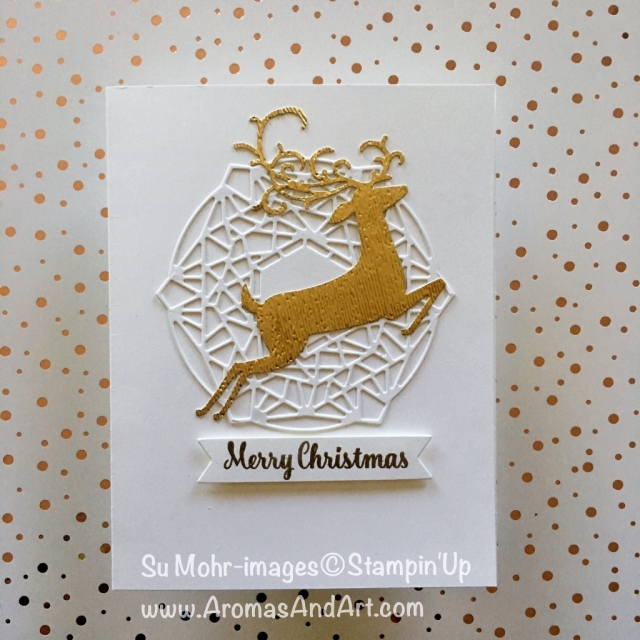 By Su Mohr for LIM384; Click READ or VISIT to go to my blog for details! Featuring: Detailed Deer dies, Beautiful Layers dies,Bunch of Banners dies, Subtle Textured embossing folder; #christmascards #xmascards #cleanandsimple #lessismore #handmadecards #dashingdeer #beautifullayers #stampinup #diy