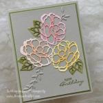 "Botanical Bliss ""Cut"" Flowers Birthday Card"