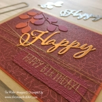 Fall Masculine Happy Birthday Card