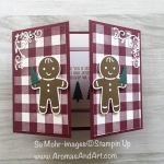 Gate Fold Gingerbread Christmas Card