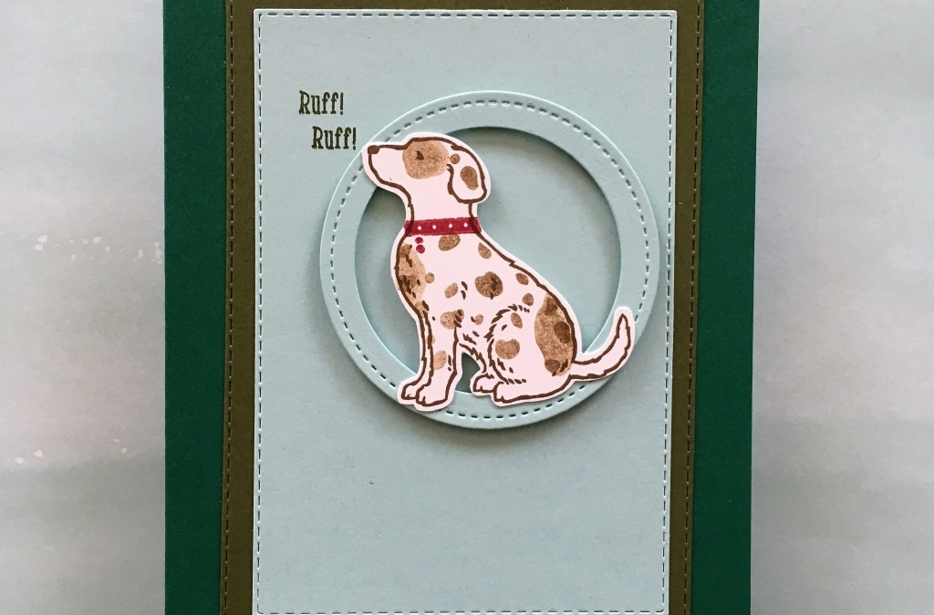 Happy Tails Masculine Birthday Card