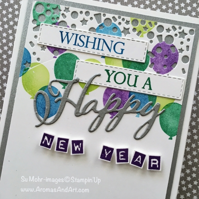 By Su Mohr for What Will You Stamp Design Team; Click READ or VISIT to go to my blog for details! Blow Out the Candles stamp set, Candles & Confetti dies, Labeler Alphabet stamp set, Merry Christmas To All stamp set, Merry Christmas dies; #happynewyear #happynewyearcards #handmadecards #whatwillyoustamp #merrychristmas #2019 #diy #stampinup
