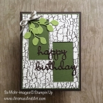 "Crackle Paint ""Tree Bark"" Birthday Card"