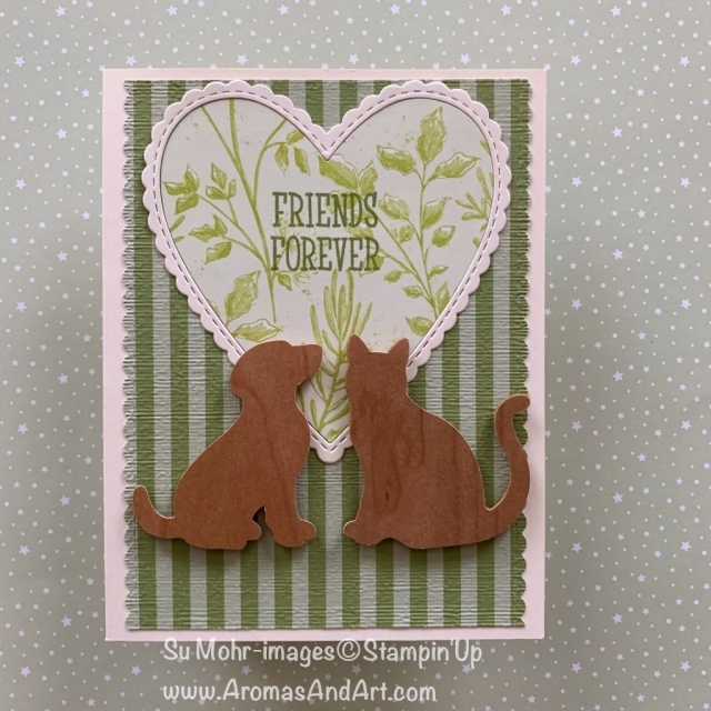 By Su Mohr for Paper Players 423; Click READ or VISIt to go to my blog for details! Featuring: Botanical Butterfly DSP, Dog Punch, Cat Punch, be Mine Stitched dies, 6X6 Subtles DSP; #pp423 #dogsoncards #catsoncards #handmadecards #heartsoncards #diy #friendshipcards #cardchallenges