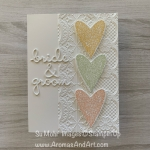 Bride & Groom Wedding Cake Card