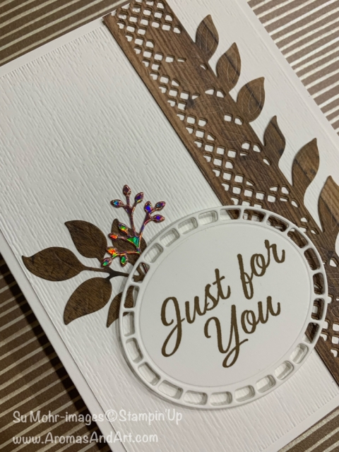 By Su Mohr for cts305; Click READ or VISIT to go to my blog for details! Featuring: Wonderful Floral dies, Meant To Be stamp set, Wood Textures DSP, SAB Foil Sheets, Subtle Texture embossing; #masculinecards #woodtextures #wonderfulfloral #meanttobe #handmadecards #dit #papercrafting