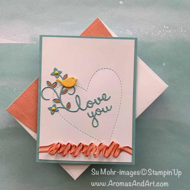 By Su Mohr for PP424; Click READ or VISIT to go to my blog for details! Featuring: Be Mine Stitched dies; Well Written dies, Organdy Ribbon Combo Pack,, Meant To Be stamp set; #valentines #bemine #wellwritten #pp424 #colorchallenge #handmadecards #valentinesday #colorcombos