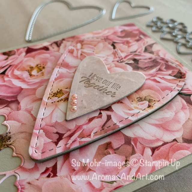 By Su Mohr for WWYS design team; Click READ or VISIT to go to my blog for details! Featuring: Meant To Be stamp set, Petal promenade DSP, Be Mine Stitched die set; #sharewhatyoulove #designerseriespaper #dsp #petalpromenade #valentines #anniversarycards #handmadecards #meanttobe #beminestitcheddies #hearts