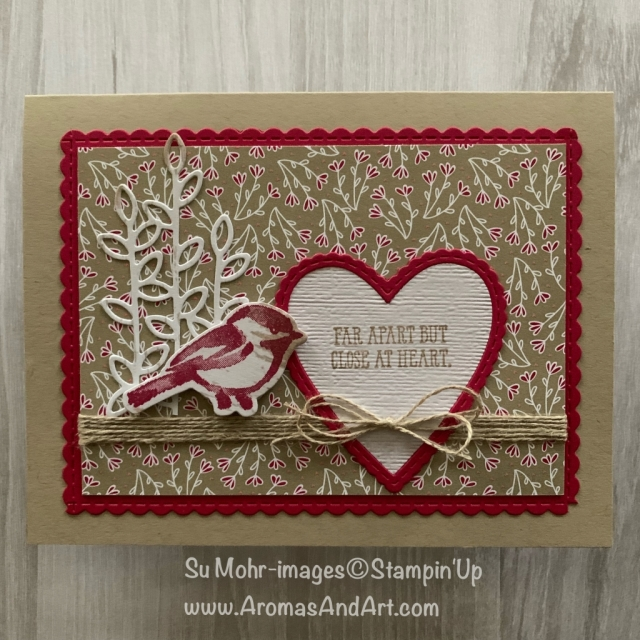 By Su Mohr for GDP172; Click READ or VISIT to go to my blog for details! Featuring: PetalPalette stamp set, Well Said stamp set, All My Love DSP, Well Written die set, Be Mine Stitched die set; #valentines #handmadecards #2019occasions #petalpalette #birds #birdsoncards #wellsaid #wellwritten #beminestitcheddies #papercrafts #cardchallenges