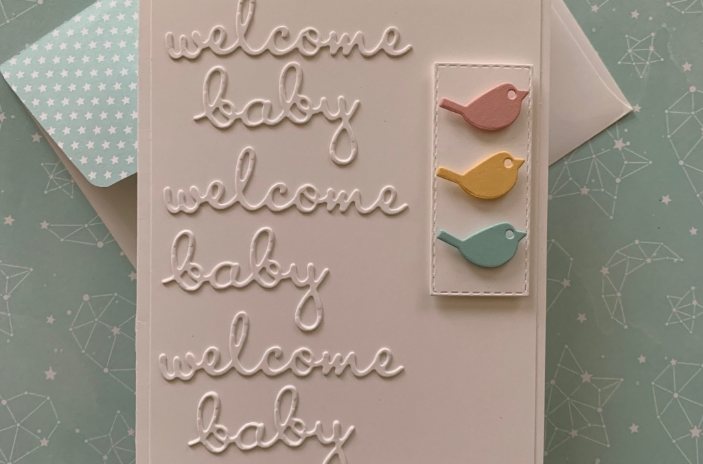 Welcome Baby Triplet Card