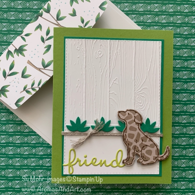 By Su Mohr for CST310; Click READ or VISIT to go to my blog for details! Featuring: Happy tails stamp set, Well Written die set, Dog Builder Punch, Hop Around die set, Pinewood Planks embossing, Animal Expedition DSP; #happytails #dogbuilderpunch #hoparound #wellwritten #animalexpedition #handmadecards #diy #crafts #dogs #puppies #cardchallenges #occasions2019
