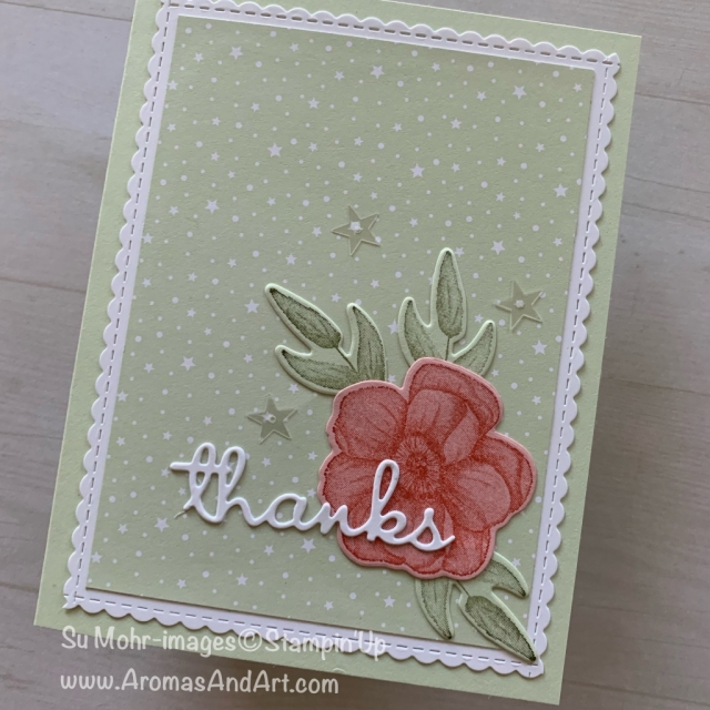 By Su Mohr for GDP178; Click READ or VISIT to go to my blog for details! Featuring: Painted Seasons stamp set, Four Seasons die set, Well Witten die set, Be Mine Stitched die set, Twinkle Twinkle DSP; #thankyoucards #cardmaking #handmadecards #quick&easy #paintedseasons #fourseasons #twinklwtwinkle #wellwritten #saleabration #occasions #stampinup #cardchallenges