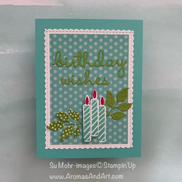 By Su Mohr for GDP; Click READ or VISIT to go to my blog for details! Featuring: Blow Out The Candles stamp Set, Candles& Confetti die set, Wonderful Floral die set, Be Mine Stitched die set, Well Written die set; #birthdaycards #happybirthday #blowoutthecandles #wellwritten #beminestitcheddies #wonderfulfloral #candles&confetti #birthdaycandles #occasions2019 #handmadecards #diy #stampinup