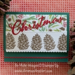 Painted Seasons Pinecones Christmas Card