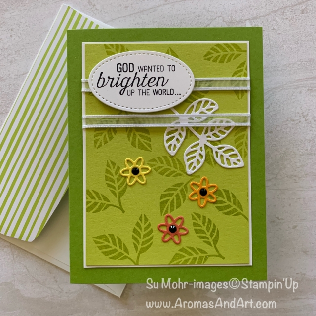 By Su Mohr for WWYS Design Team and FMS383; Click READ or VISIT to go to my blog for details! Featuring: Flourishing Phrases stamp set, Flourish dies, VersaMark, Heat embossing, Stitched Shapes die set; #birthdaycard #handmadecard #handcrafted #daughter #godswork #flourishingphrases #flourishdies #stampinup #diy #handcrafted