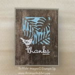 Tropical Jungle Thank You Card