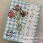 Beautiful Bouquet on Gingham for Paper Players 436