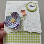 Gingham Flower Meets Button Button Embossing