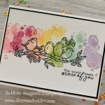 Rainbow Birds #simplestamping