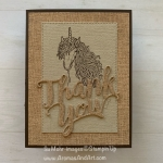 Masculine Unicorn Thank You Card