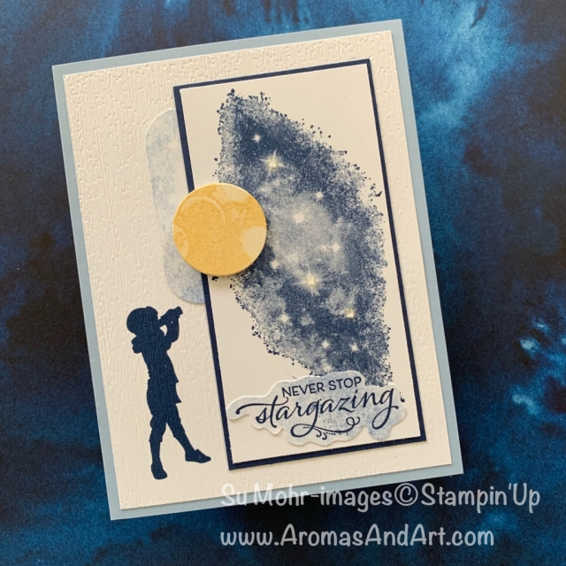 By Su Mohr for cts; Click READ or VISIT to go to my blog for details! Featuring: Silhouette Scenes Stamp Set, Stargazing Stamp Set; #stargazing #silhouettescenes #silhouettes #cardsforkids #stars #handmadecards #handcrafted #nightsky #cardchallenges #cardsketches #encouragement