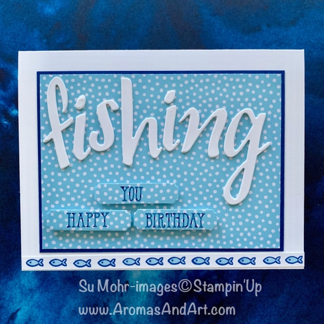 By Su Mohr for the Paper Players Design Team; Click READ or VISIT to go to my blog for details! Featuring: Hand-Lettered Prose Dies, Well Said Stamp Set, Merry Christmas Dies, Nine Lives Stamp Set; #fishing #watersports #watersportsoncards #hand-letteredprose #lettersoncards #wellsaid #ninelives #handmadecards #handcrafted #diy #cardmaking #2019-2020