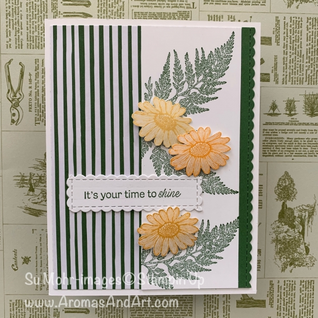 By Su Mohr for Fab Fri; Click READ or VISIT to go to my blog for details! Featuring: Daisy Lane Stamp Set, Be Mine Stitched Dies, 6X6 DSP; #daisylane #daisies #flowersoncards #floralcards #handmadecards #diy #handcrafted #cardmaking #scalloped #cardsketches #cardchallenges #stampinup