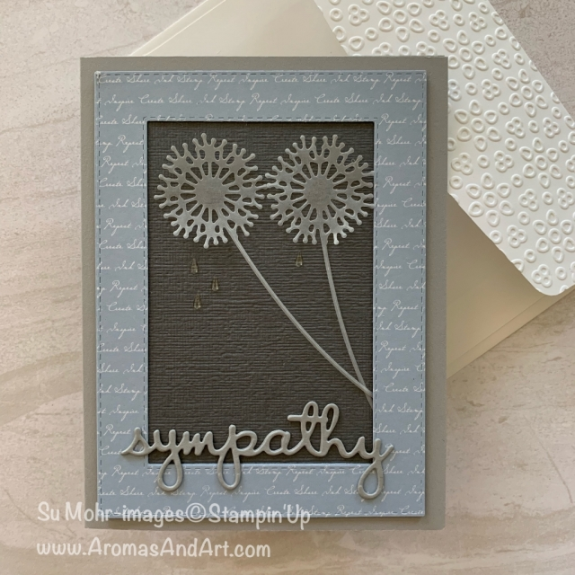By Su Mohr for GDP and TGIF; Click READ or VISIT to go to my blog for details! Featuring: Sweet Silhouettes Dies, Well Written Dies, Subtle Texture embossing, Rectangles Stitched Dies, Well Said Stamp set; #sympathycards #handmadecards #handcrafted #diy #sweetsilhouettes #wellwritten #wellsaid #cardchallenges