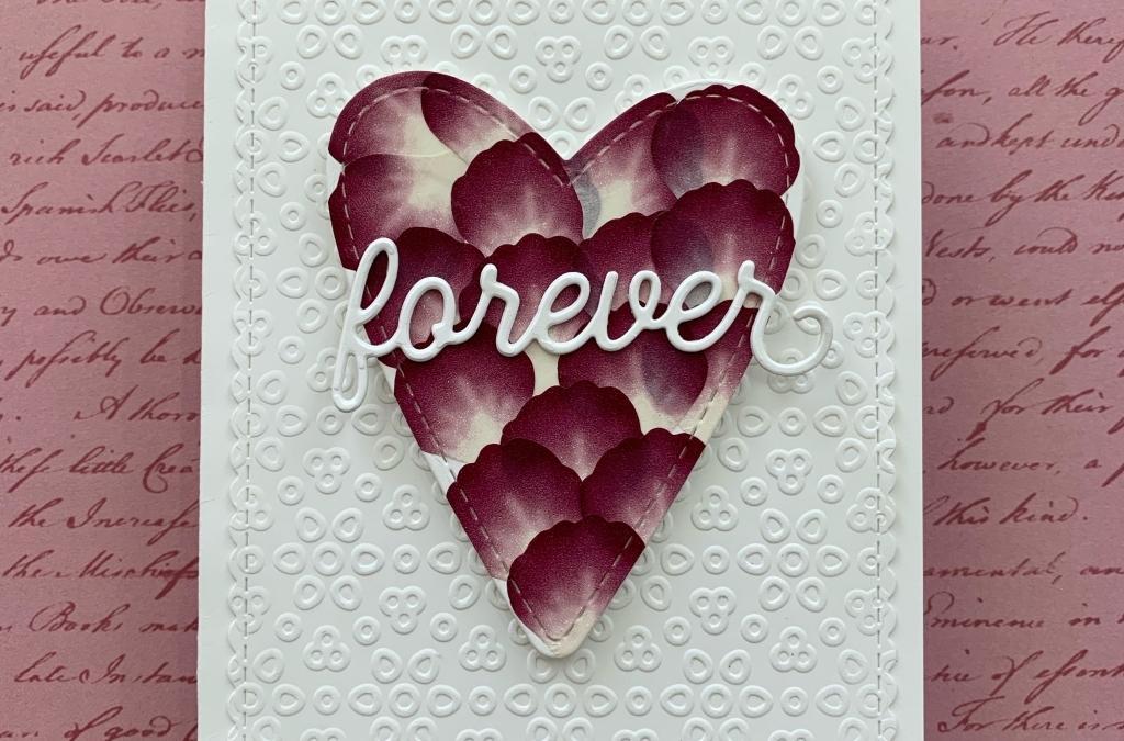 Pressed Petals Washi Tape Heart