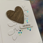 Wood Carved Heart & Tiny Foil Dots
