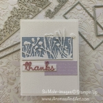 How to Make A Die-Cut Card of a Silhouette, Rectangles & Thanks