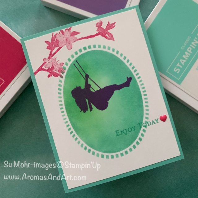 By Su Mohr for tgif; Click READ or VISIIT to go to my blog for details! Featuring: Laser-Cut Paper, stencil technique, Silhouette Scenes, Butterfly Wishes, Good Morning Magnolia; #simplestamping #silhouettes #silhouettescenes #silhouettesoncards #butterflywishes #colorchallenges #colorcombinations #handmadecards #handcrafted #diy