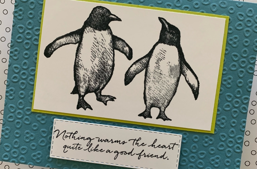 Quick & Easy Playful Penguins Friendship Card