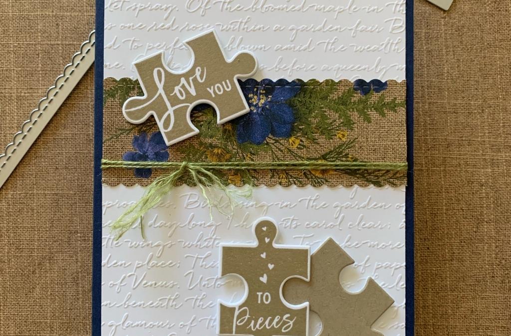 Puzzle Pieces & Script Embossing