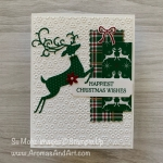 Christmas Reindeer Wrapped In Plaid
