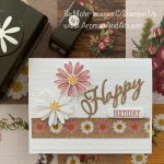 Punched Daisies Happy Birthday Card