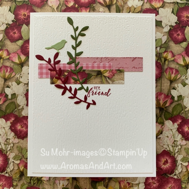 By Su Mohr for FMS; Click READ or VISIT to go to my blog for details! Featuring: Pressed PetalsDSP, Stitched Rectangles Dies, Botanical Tags Dies, Itty Bitty Greetings Stamp Set, Subtle Texture embossing; #friendshipcards #botanicaltags #pressedpetals #clean&simple #handcrafted #handcrafted #diy #cardmaking #stampinup #cardsketches