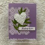 White Heart On Purple Lace