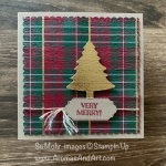Wrapped In Plaid Square Card