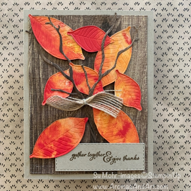 By su mohr for Kre8tors Blog Hop; Click READ or VISIT to go to my blog for details! Featuring: Nature's Roots Dies, See A Silhouette DSP, Stitched Rectangles Dies, Seasonal Layers Dies, Pressed Petals DSP, SubtleTexture Embossing, Painted Harvest Stamp Set; #thanksgivingcards #fallcolors #fallleaves #leavesoncards #naturesroots #seeasilhouette #seasonallayers #paintedharvest #handmadecards #handcrafted #diy #cardmaking
