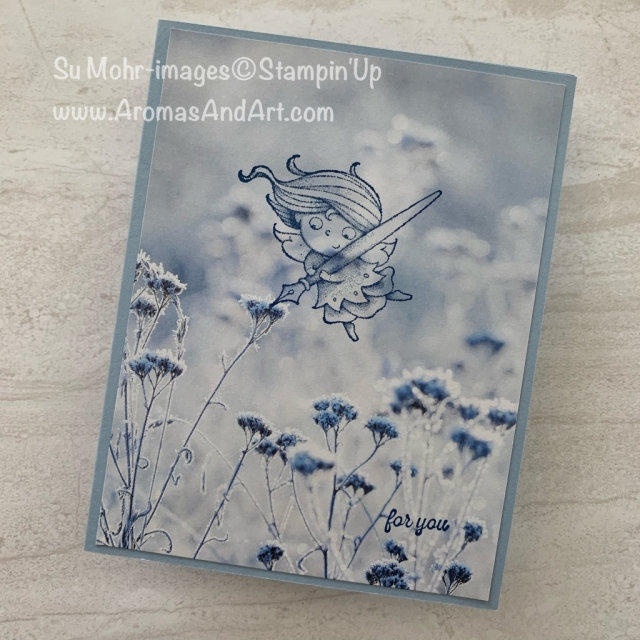 By Su Mohr; Click READ or VISIT to go to my blog for details! Featuring: New Wonders Stamp Set, Feels Like Frost DSP, Itty Bitty Greetings Stamp Set, #simplestamping; #newwonders #feelslikefrost #ittybittygreetings #angels #angelsoncards #simplestamping #hostrewards #hoststampsets #handmadecards #handcrafted #diy #cardmaking #stampinup