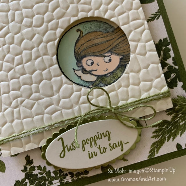 By Su Mohr for FMS; Click READ or VISIT to go to my blog for details! Featuring: New Wonders Stamp Set, Hammered Metal embossing, Layering Circles Dies, Layering Ovals Dies, Stampin' Blends; #newwonders #hammeredmetal #embossingoncards #fairies #fairiesoncards #handmadecards #handcrafted #diy #cardmaking #stampinup