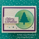 By Su Mohr for paper Players Design Team; Click READ or VISIT to go to my blog for details! Featuring: Pine Tree Punch, Perfectly Plaid Stamp Set, Eyelet Lace embossing, Layering Circles Dies, Stitched Rectangles Dies; #christmascards #holidaycards #pinetreepunch #perfectlyplaid #colorcombos #cardsketches #handmadecards #diy #handcrafted #cardmaking #cardembossing #stampinup
