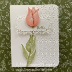 By Su Mohr for GDP; Click READ or VISIT to go to my blog for details! Featuring: Timeless Tulips Stamp Set, Stylish Scroll embossing, Ornate Frames Dies; #sneakpeeks #occasions2020 #onstage #timelesstulips #tulips #tulipsoncards #flowersoncards #uniqueideas #handmadecards #handcrafted #diy #cardmaking